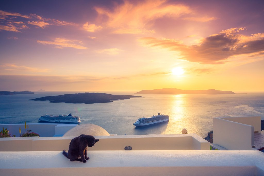 Bid Santorini's glorious skies farewell.
