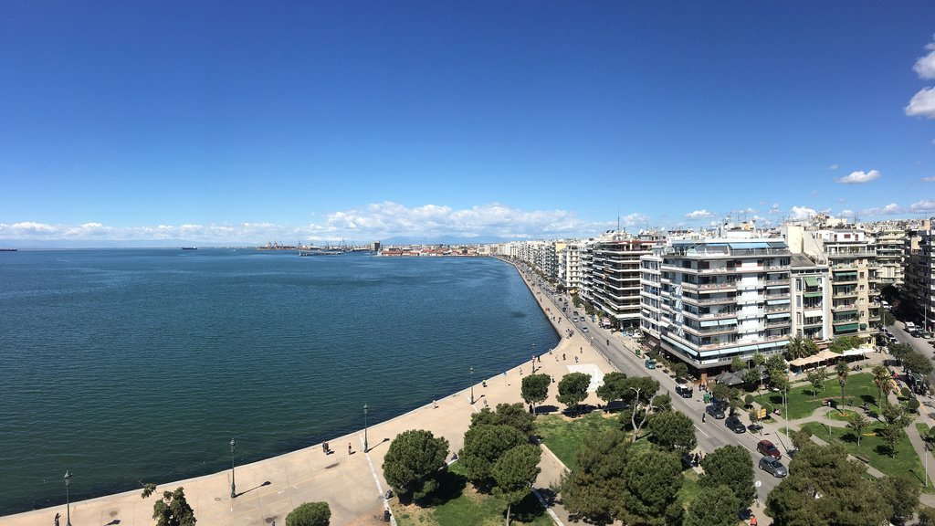 The waterfront of Thessaloniki, Greece