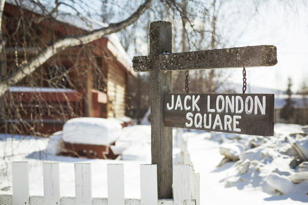 "Jack London's  famous novel ""Call of the Wild"" was based on his experiences in Dawson City"