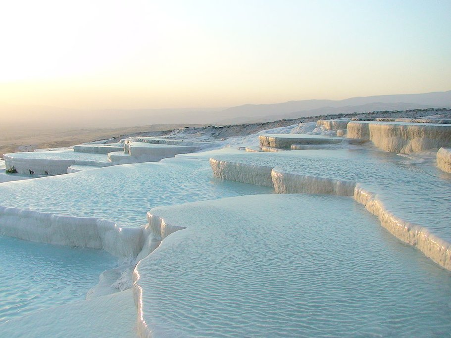 The hot springs at Pamukkale