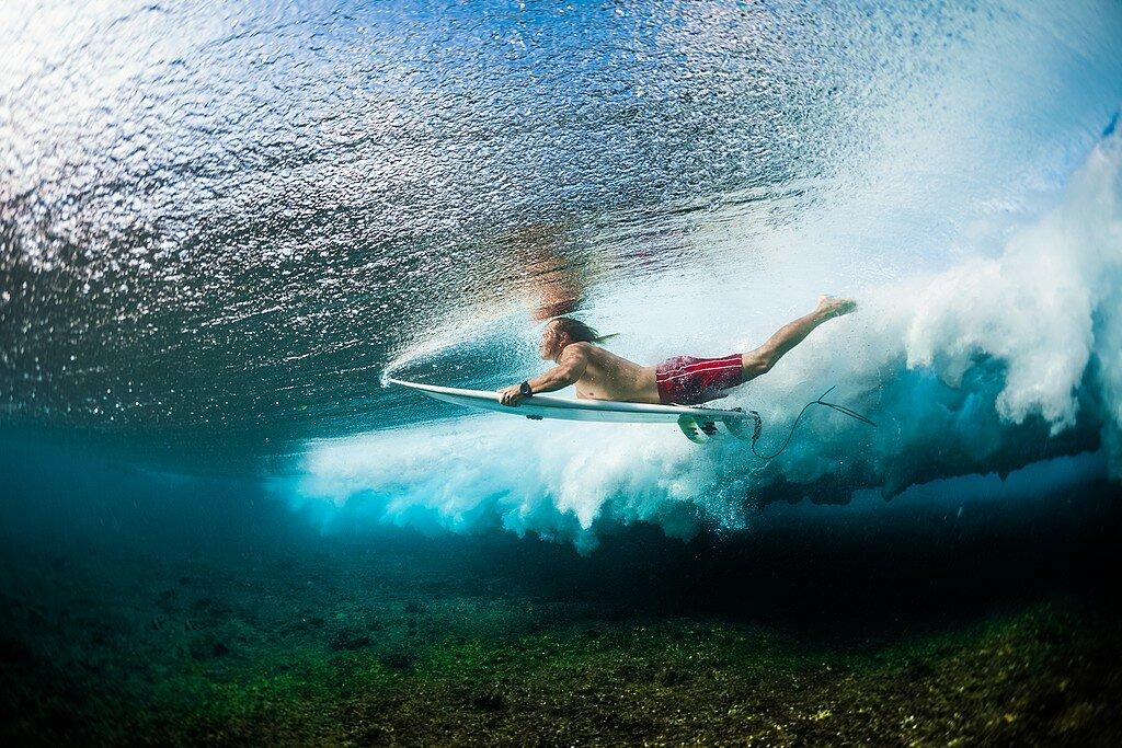 Surfing in Manuel Antonio