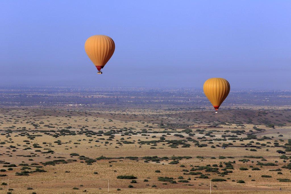 Hot air balloons near Marrakech