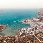 Aerial View of Antiparos Harbour
