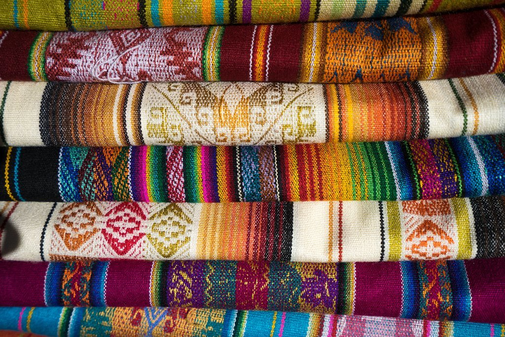 Textiles at the Otavalo Indigenous Market