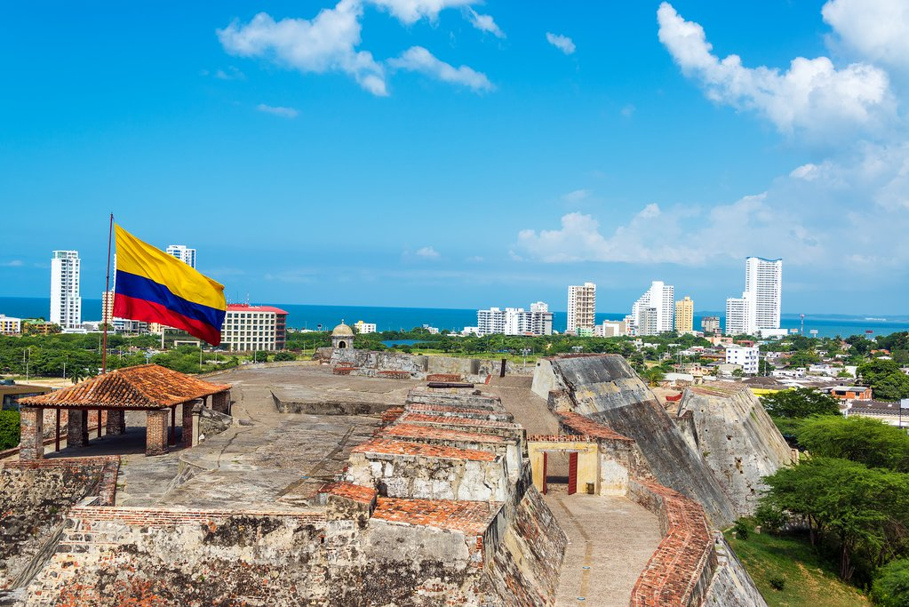 San Felipe de Barajas Castle and the Skyline of Cartagena