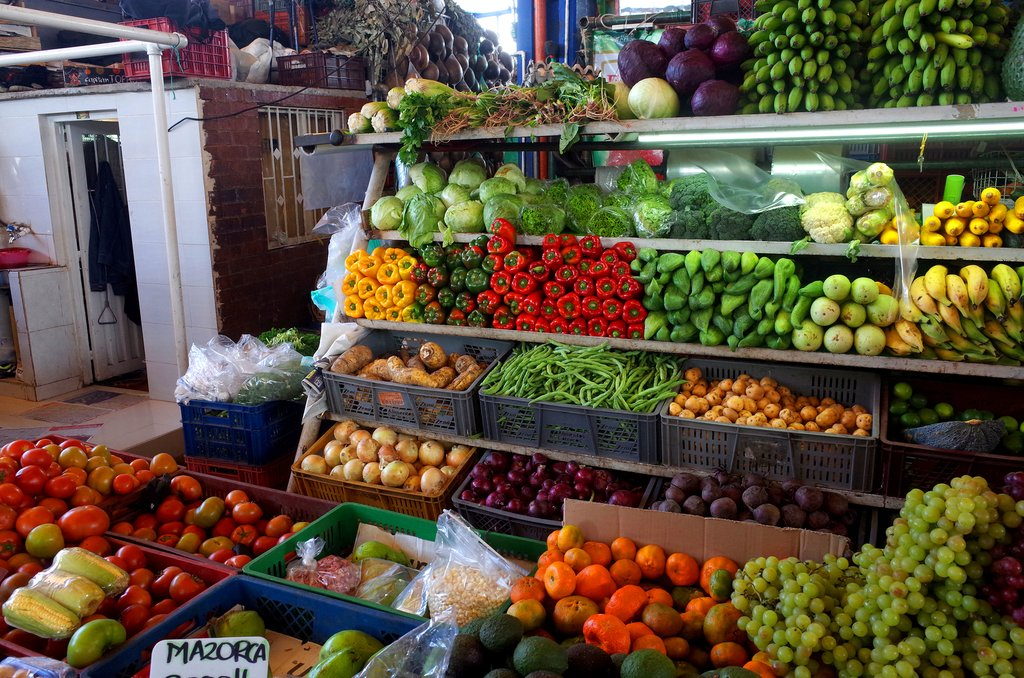 Fresh produce at Plaza de Mercado de Paloquemao