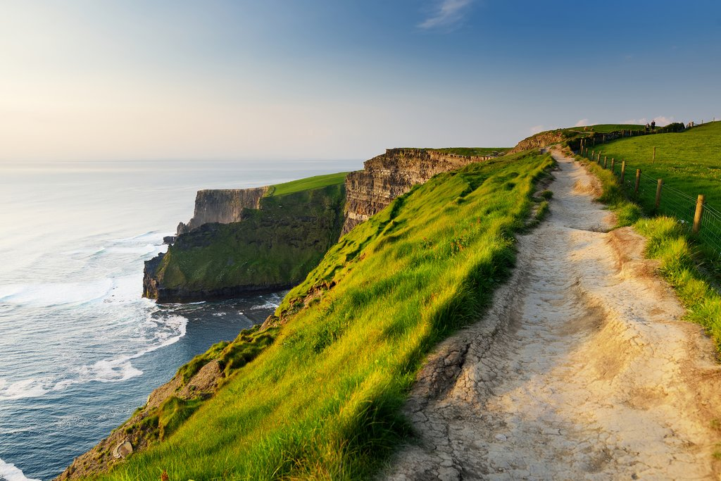 Hike along the western edge of Europe at the Cliffs of Moher.