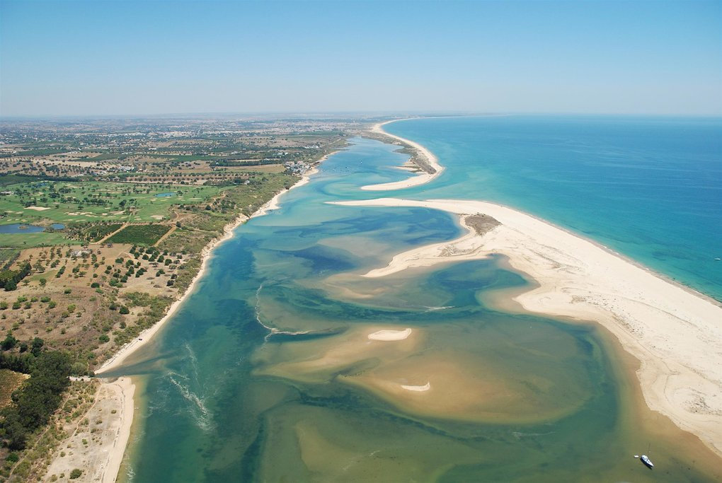Sky view of the Ria Formosa
