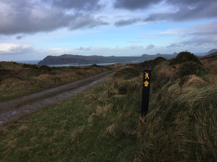 Hiking trail in Ballydavid