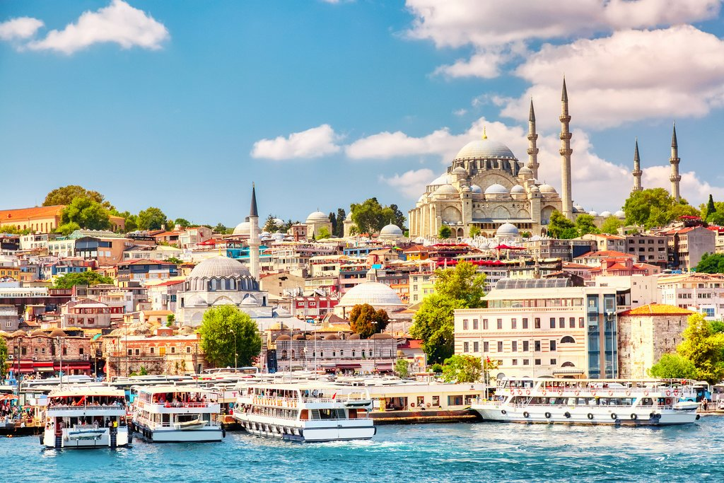 Colorful Views of Istanbul and Golden Horn Bay