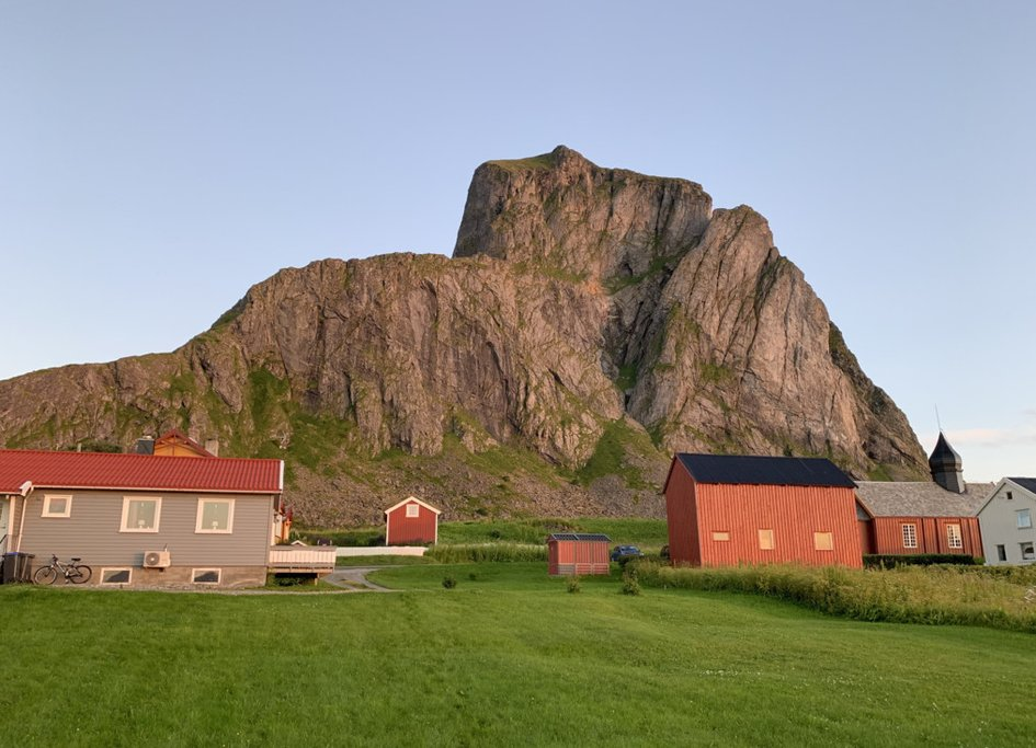 A traditional small village at Værøy