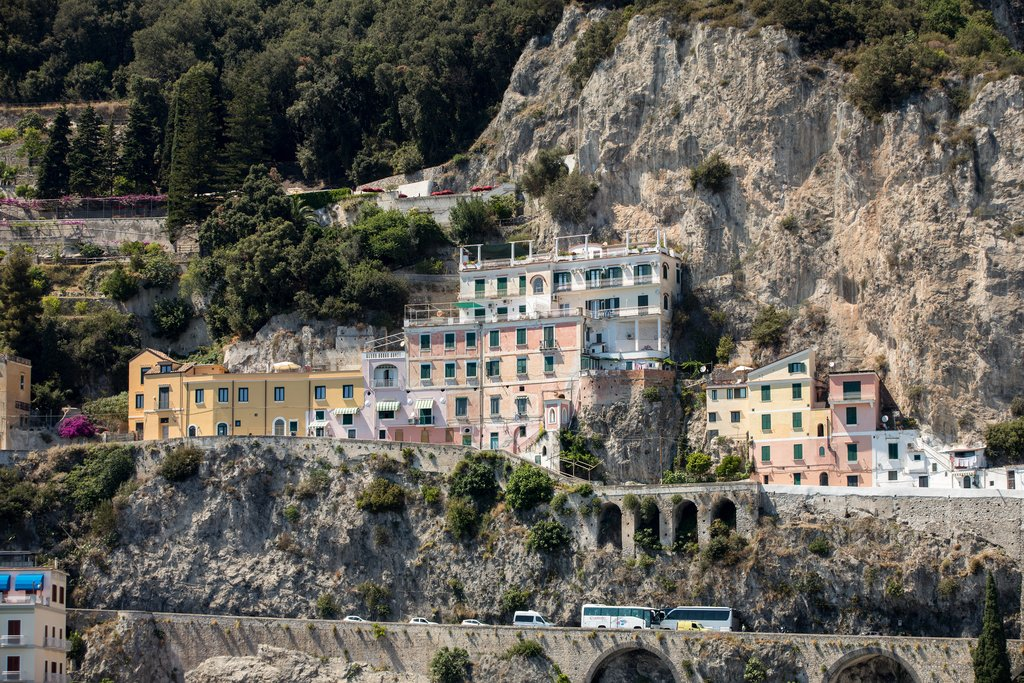 Cliffside buildings on the Amalfi Coast