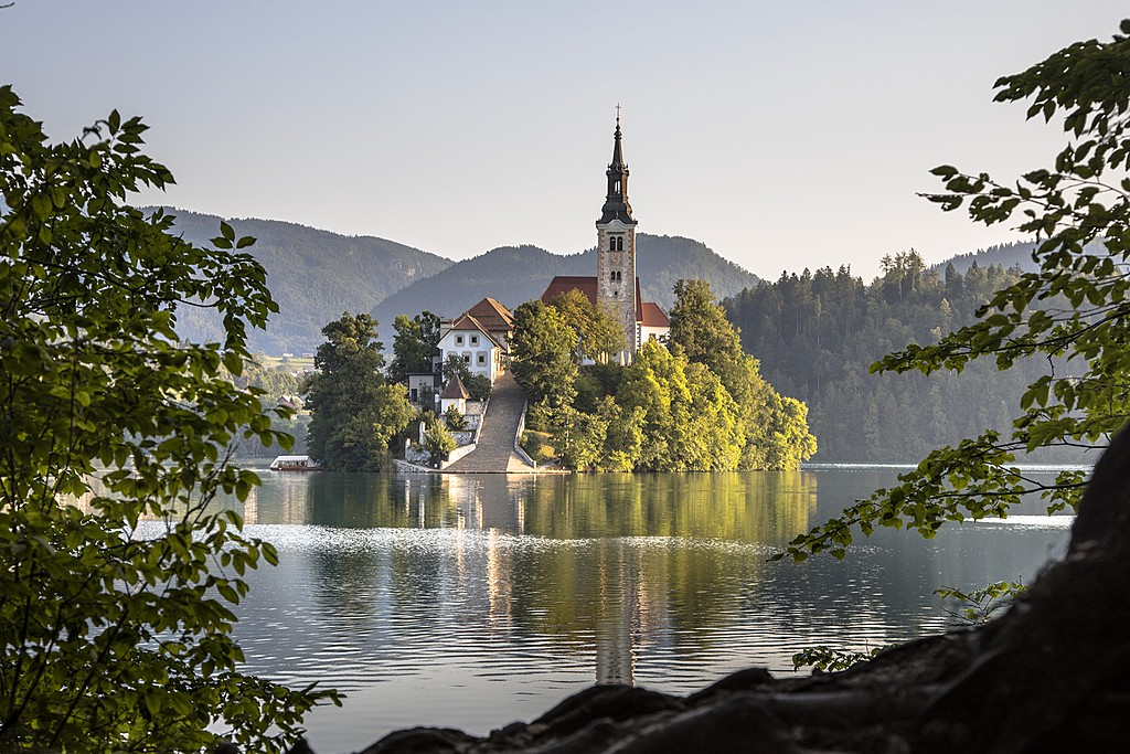 The famously dreamy setting in Lake Bled