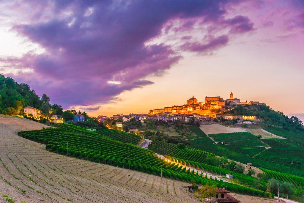 View of La Morra, Piedmont.
