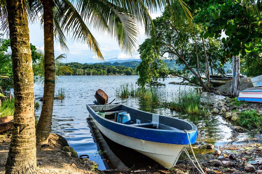 Boat on Rio Dulce