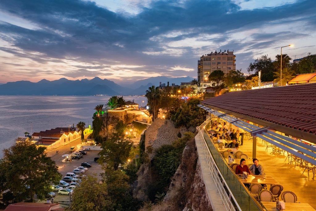 Antalya at night lights up