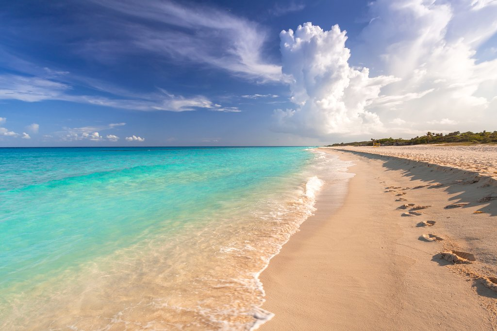 A beautiful beach on the Riviera Maya