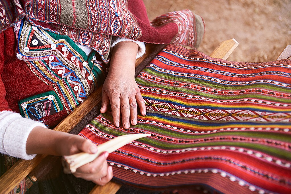 Traditional handmade wool textiles
