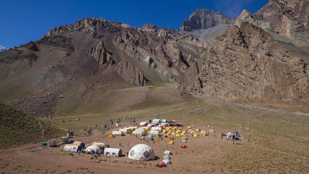 Panoramic view of Camp Confluencia inside Aconcagua Provincial Park