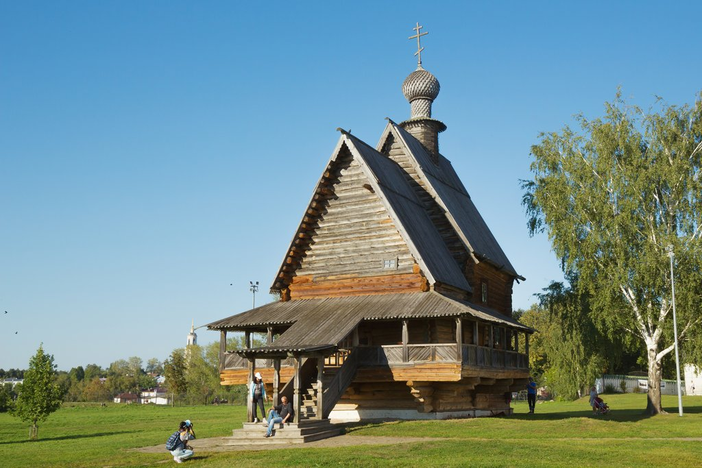A typical wooden 18th-century church