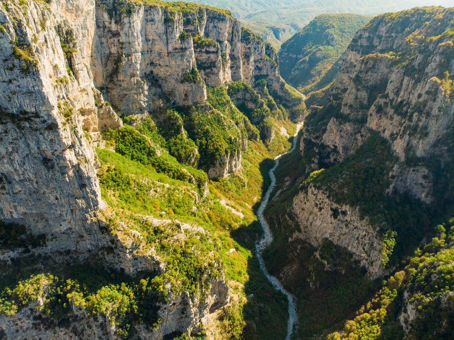 Vikos Gorge in the Zagori region of Greece