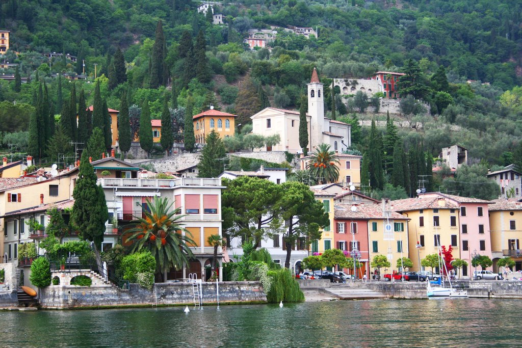 Small town on Lake Garda