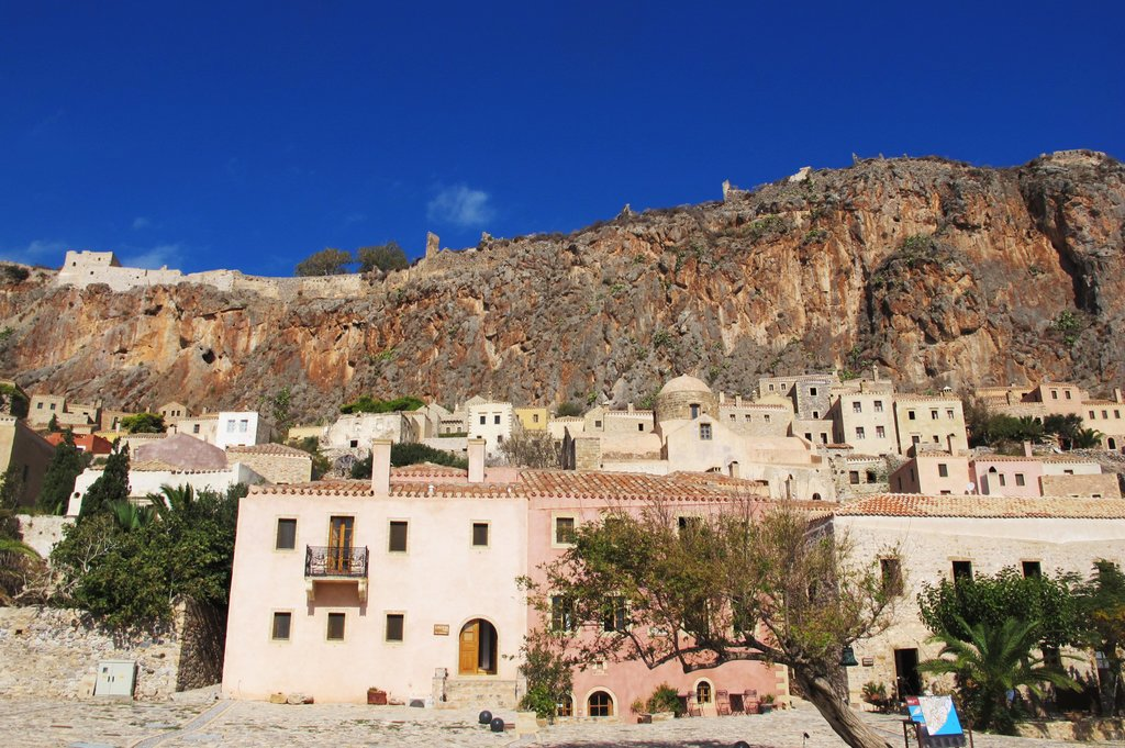 Monemvasia, reachable only by boat