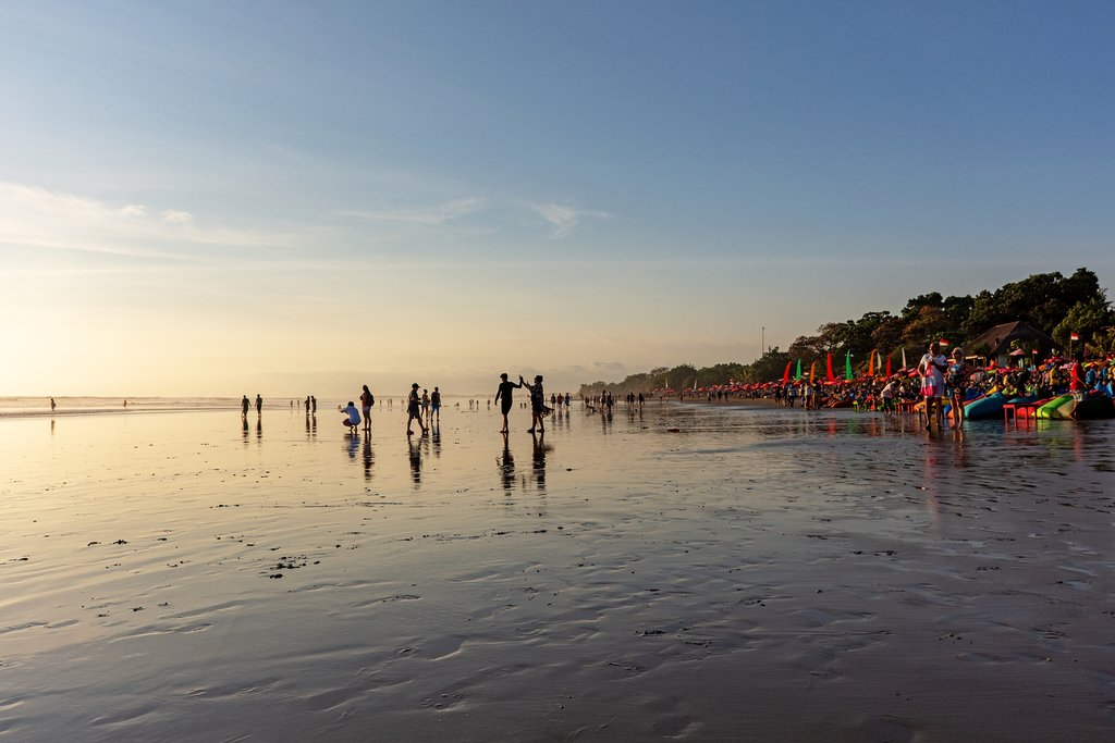 Sunset at the beach in Seminyak