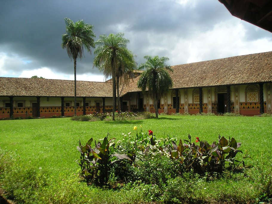 A courtyard of a Jesuit mission