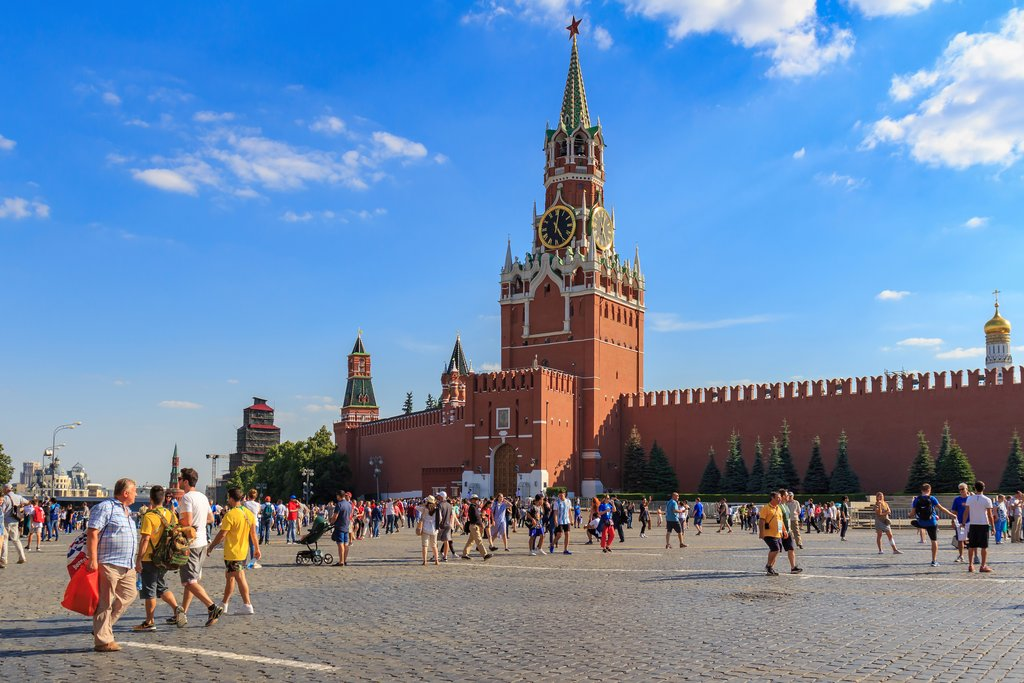 Red Square in front of the Kremlin walls