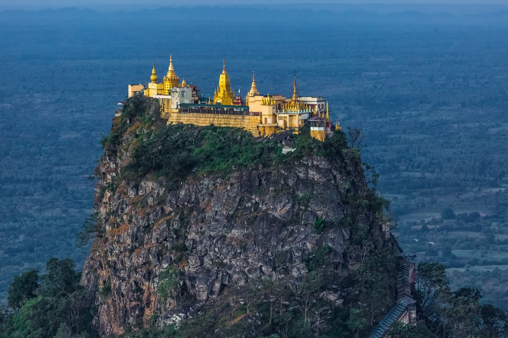 The sacred site at Mount Popa