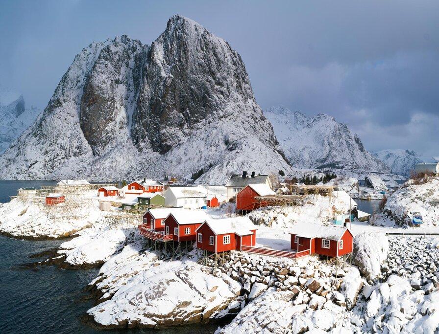 Traditional Lofoten fishing village