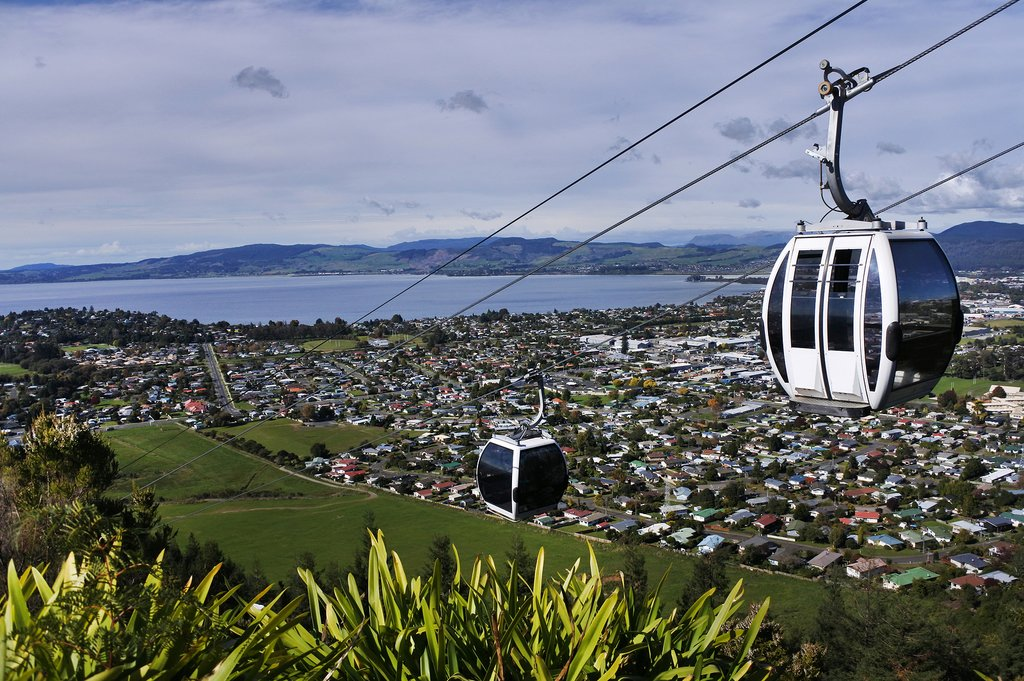 Take a Skyline cable car ride overlooking Rotorua