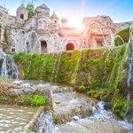 The gardens and falls at Villa d'Este