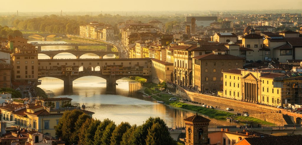 Ponte Vecchio and Florence skyline