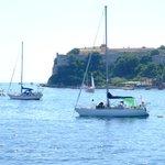 Sailboats on the Lérins Islands