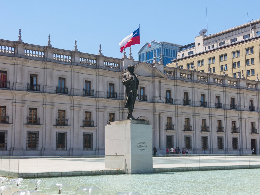 "You can always take a stroll by ""La Moneda,"" the Presidential Palace"