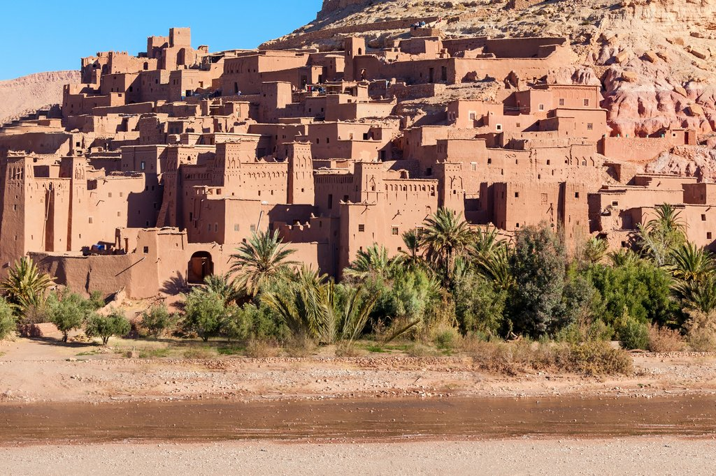 Ait Ben Haddou is a fortified city along the former caravan route