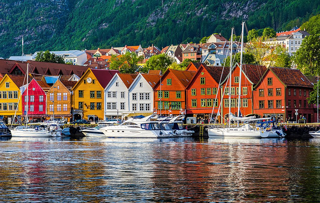 Ferry into Bergen's colorful waterfront