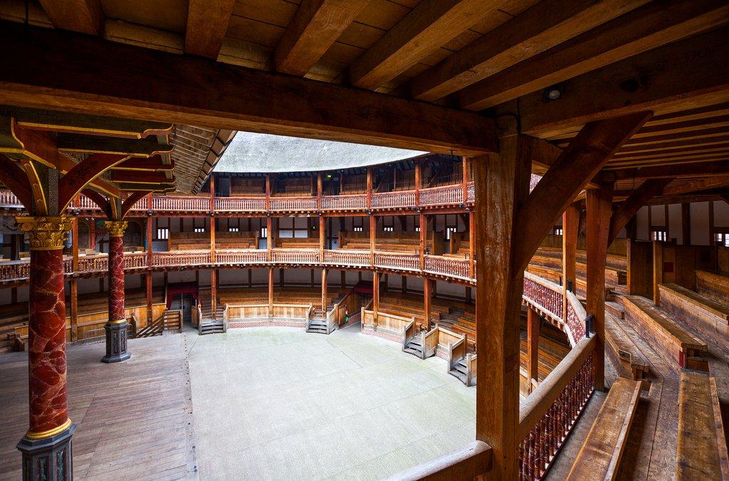 England - London - Globe Theater interior