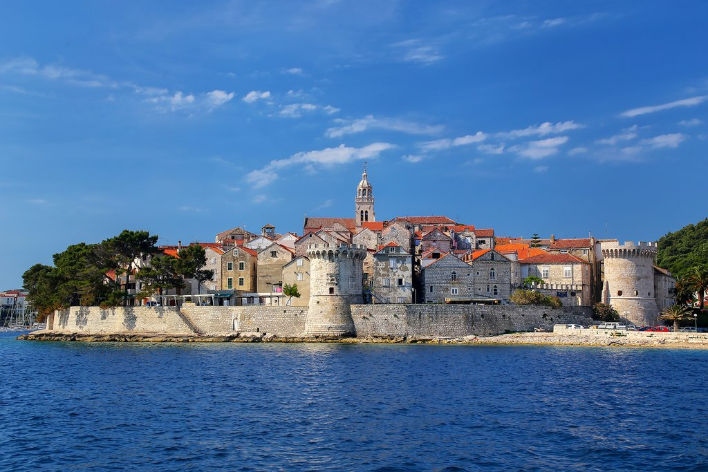 Stroll the fortress walls of Korčula