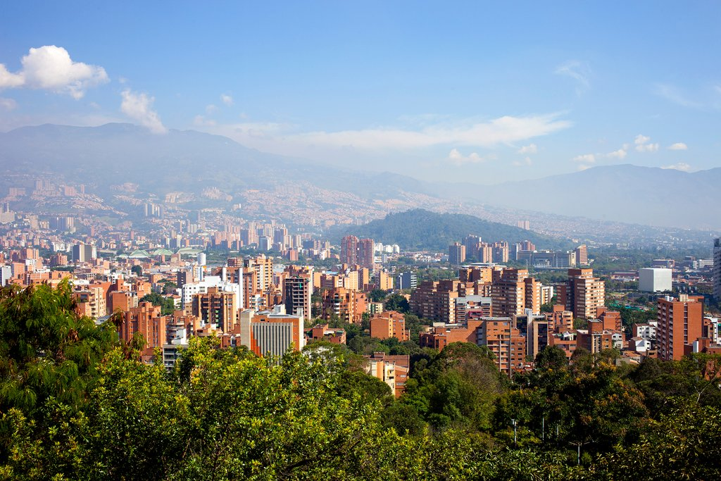 Panoramic view of Medellín