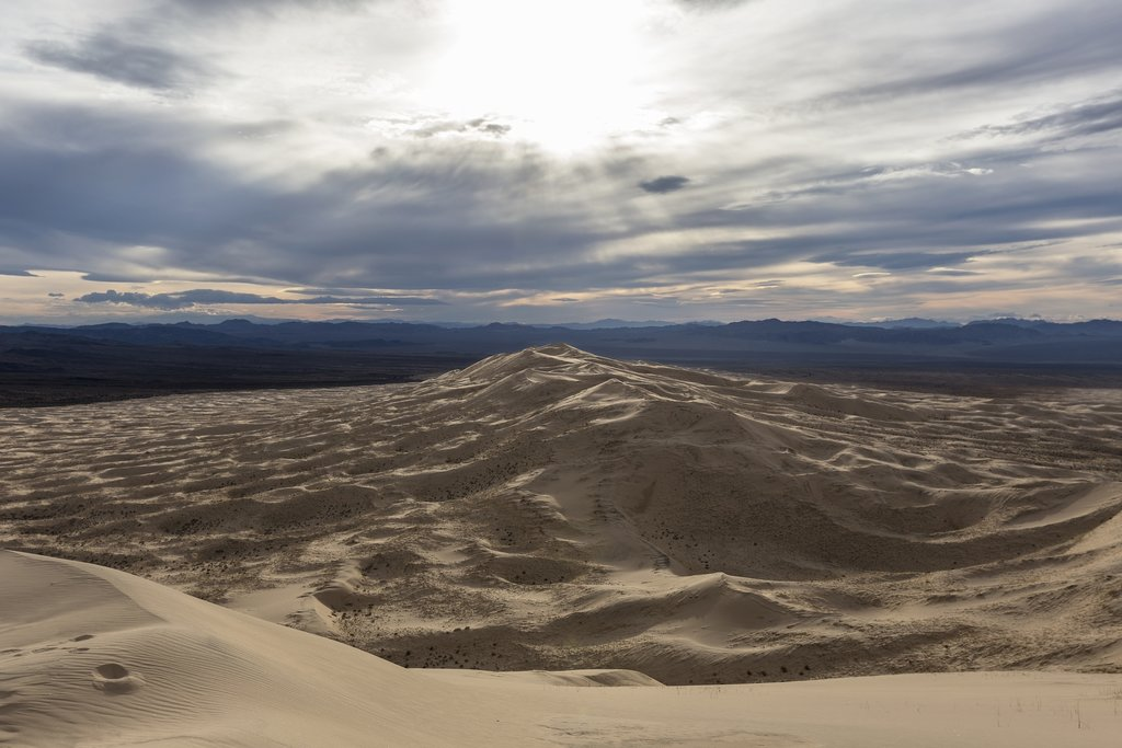 View of the Kelso Dunes in Mojave Natural Preserve