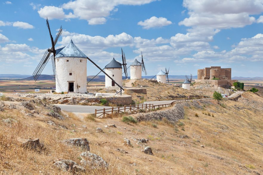 La Mancha's famous windmills