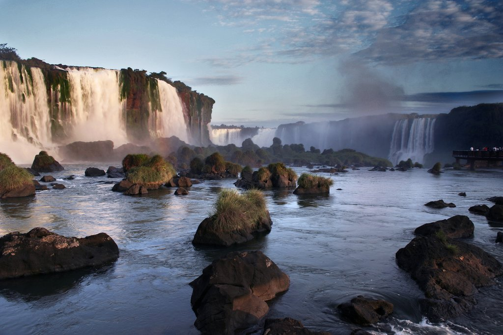 Iguazú Falls in the afternoon light