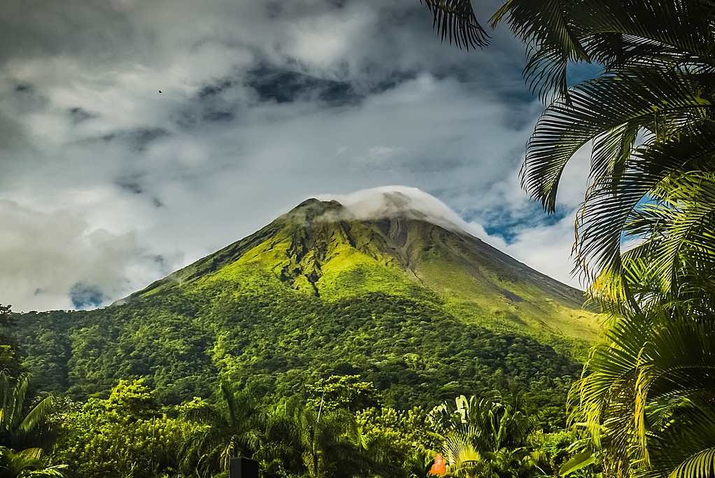 Lush jungle surrounding Arenal Volcano