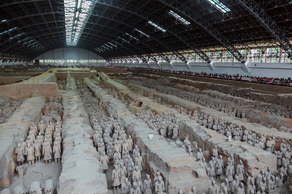 There are thousands of Terracotta Warriors