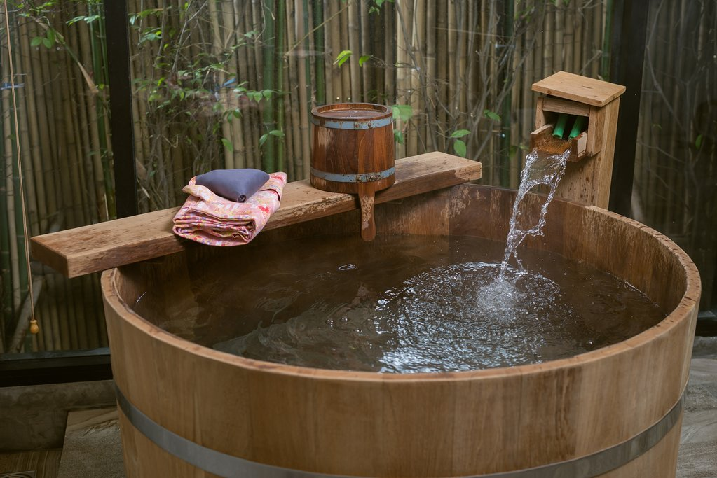 Traditional Hot Spring Bath in Japan