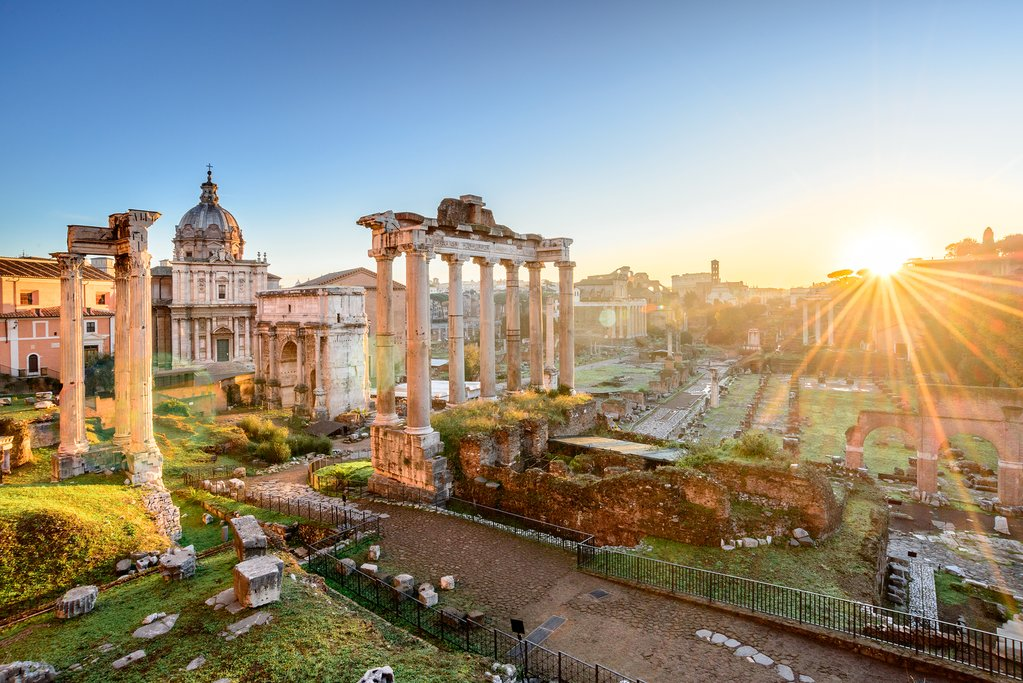 The Ancient Ruins of the Roman Forum