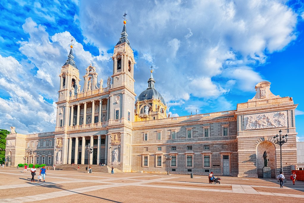 The Almudena Cathedral, in central Madrid